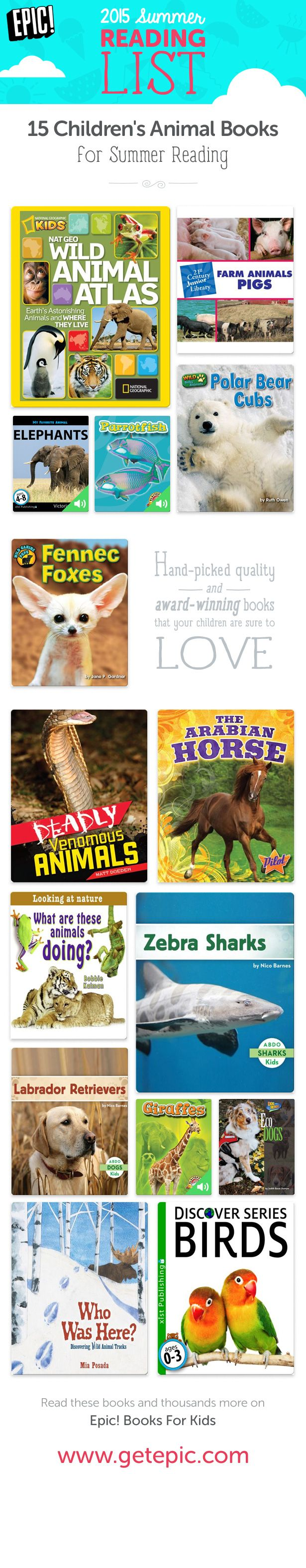 Check Out 15 Of Our Favorite Summer Books About Animals! You Can Find These  And