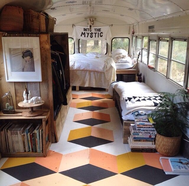 54 best short bus camper conversion ideas images on pinterest. Black Bedroom Furniture Sets. Home Design Ideas