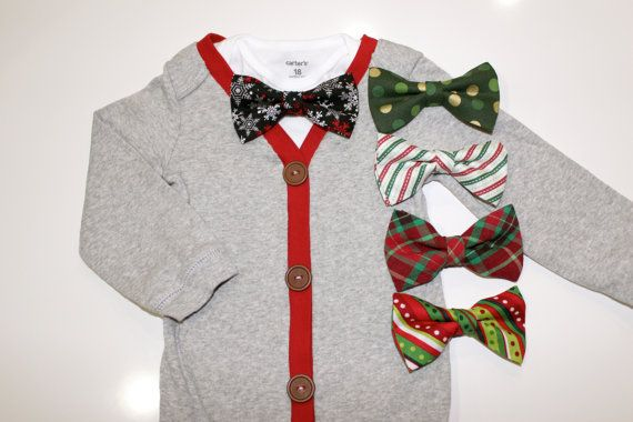 Christmas Cardigan With Bowtie For Baby Boys Pick A Bow