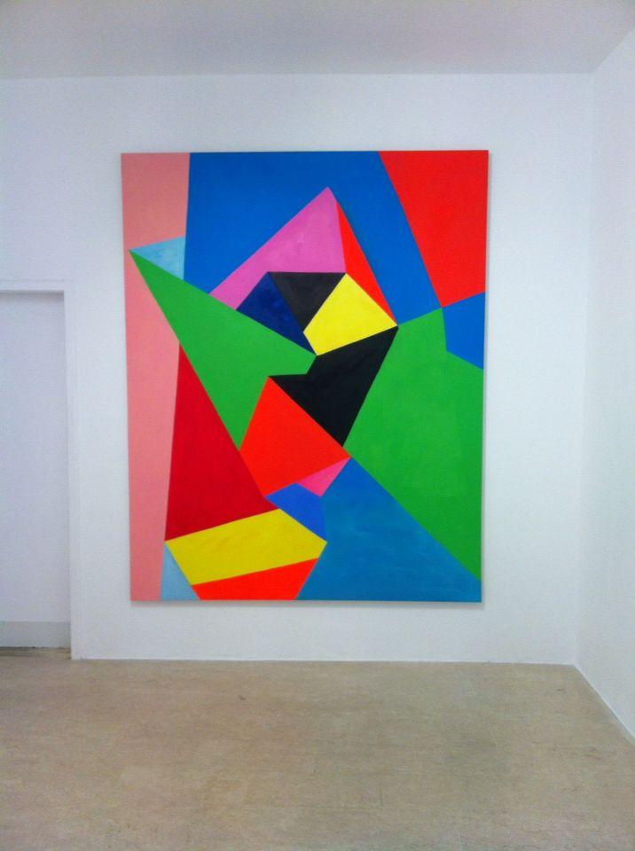 Nicola Melinelli, s.t., oil on canvas, 2012, 220x160cm, at A+B, Brescia