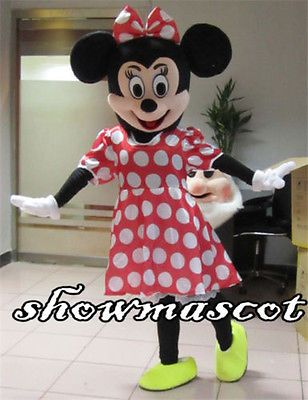 Unisex 86207: Minnie Mouse Mascot Costume Adult Fancy Professional Halloween Size -> BUY IT NOW ONLY: $59.99 on eBay!