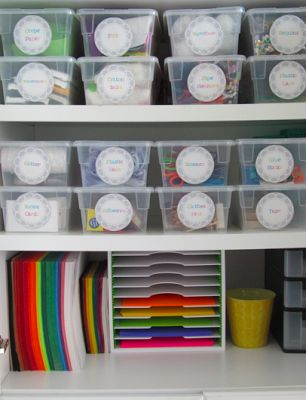 Great way to organize supplies!