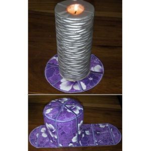 """In the Hoop """"Large Toilet Tissue Cover"""" this set has been designed to accommodate larger rolls of tissue. Great for using up small amounts of fabric. Create the tissue holder & more with included instructions!"""