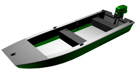 Aluminum Jon Boat Plans http://cncboatshop.com/houseboat-plans