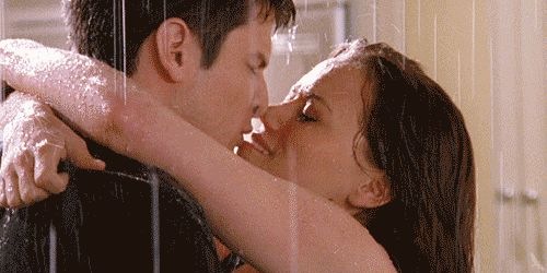 nathan haley one tree hill rain kiss gif
