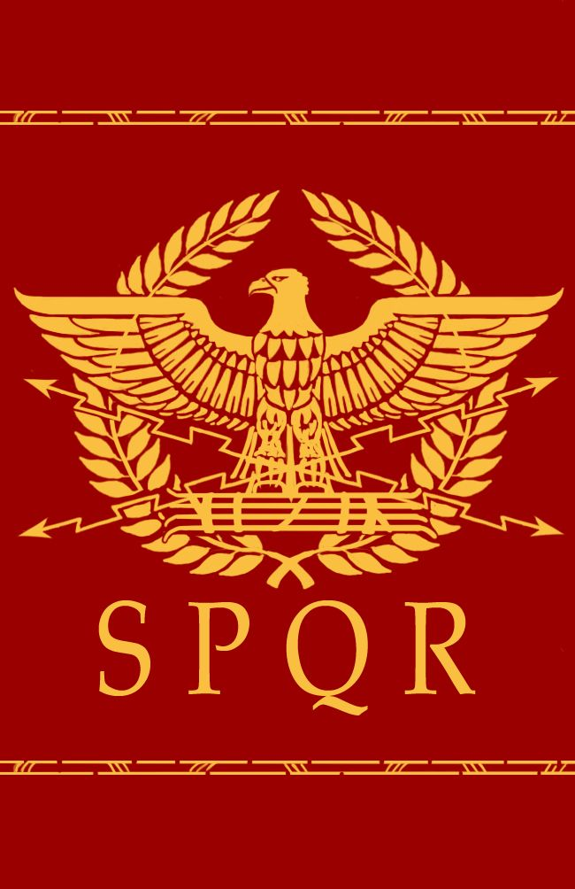 "S P Q R....The most ancient continuous political symbol in all of history. still found on every public structure in Rome, as it has been for nearly 3,000 years. Senatus PopulusQue Romanus = ""The Senate and the People of Rome."""