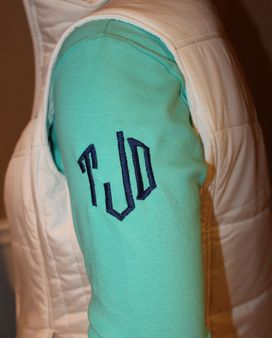 Memento creates personalized monogrammed gifts. Wedding gifts for Bride & Bridesmaids, matching personalized apron sets & preppy monogram clothing.