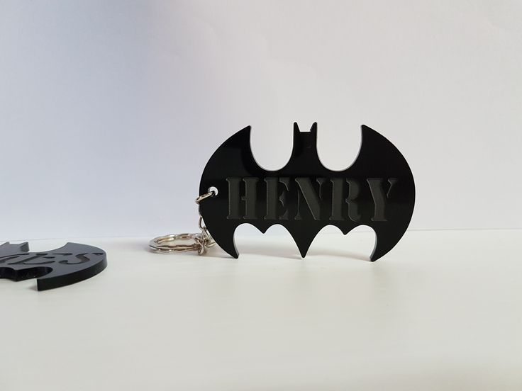 Batman Inspired Personalised Keyrings