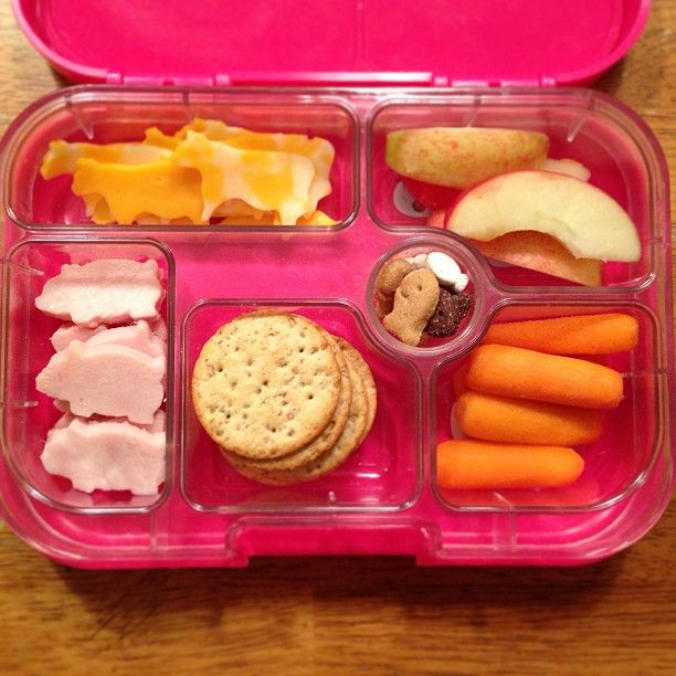 a fun homemade lunchables idea featuring cute ham pig and cheese cow cut outs packed in a yumbox. Black Bedroom Furniture Sets. Home Design Ideas