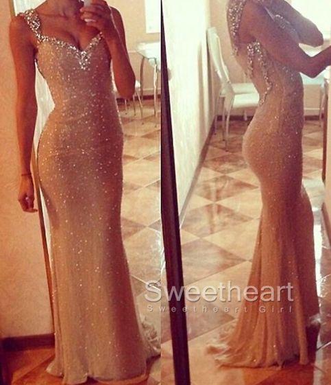 Sweetheart neckline Sequin Long Prom Dresses, Formal Dresses #prom #promdress #dress #evening #formaldress #promdresses #longprom