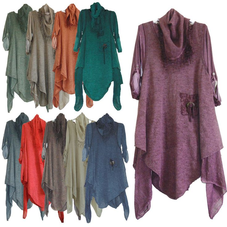 NEW WOMENS QUIRKY LAGENLOOK LAYERED 3 PIECE LONG LACE WOOL TUNIC DRESS UK 12-20 #Unbranded #TunicTopDress #Casual
