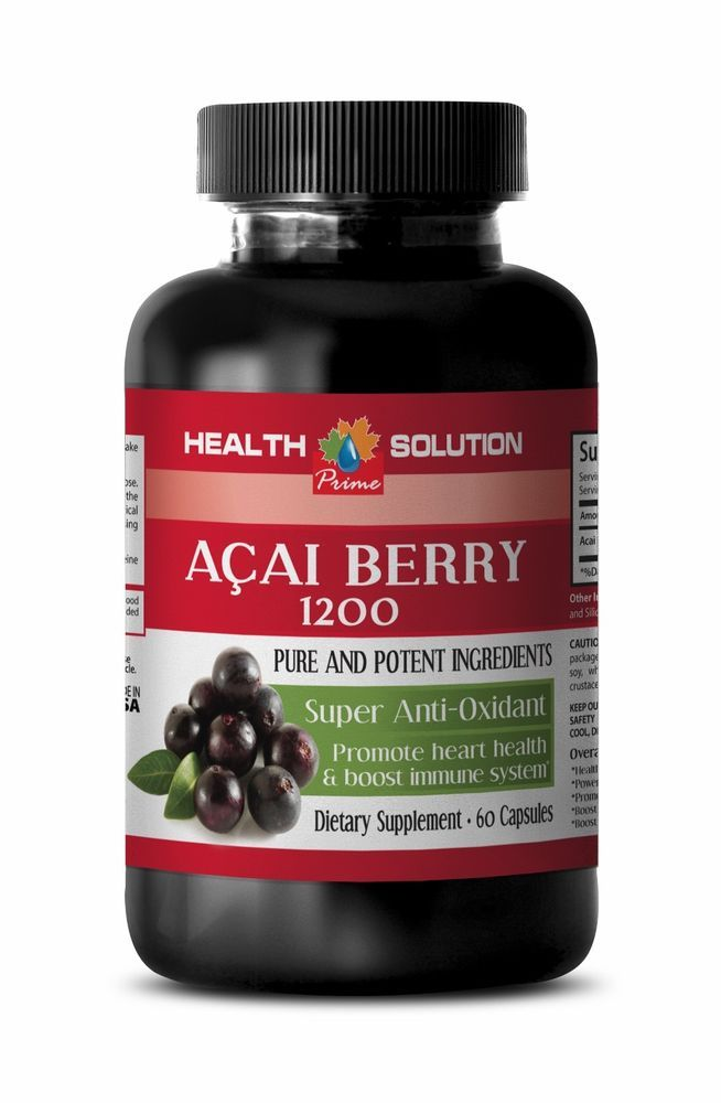 Herbal Slimming - Acai Fruit 4:1 Extract 1200 - Nutrition Acai Berry Cleanse 1B #HS