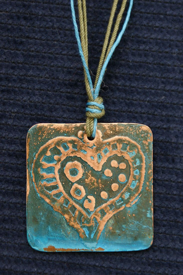 Patina copper charm - Handmade charms by FishArt (Sauna 10 Tallinn)