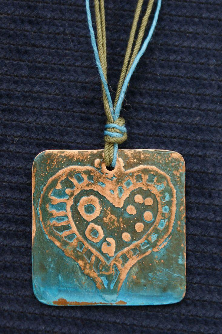 Patina copper charm - Handmade charms by FishArt (Sauna 10 Tallinn)