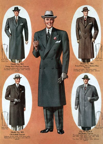 1930s men's coats