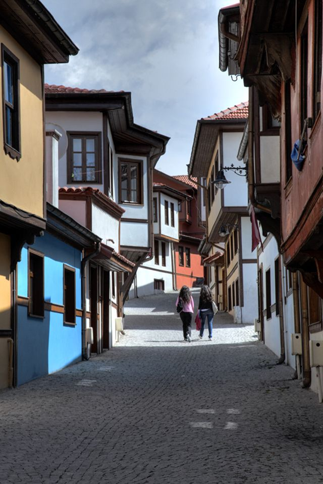 Odunpazari Eskisehir Turkey ( architectural examples of old Turkish houses )