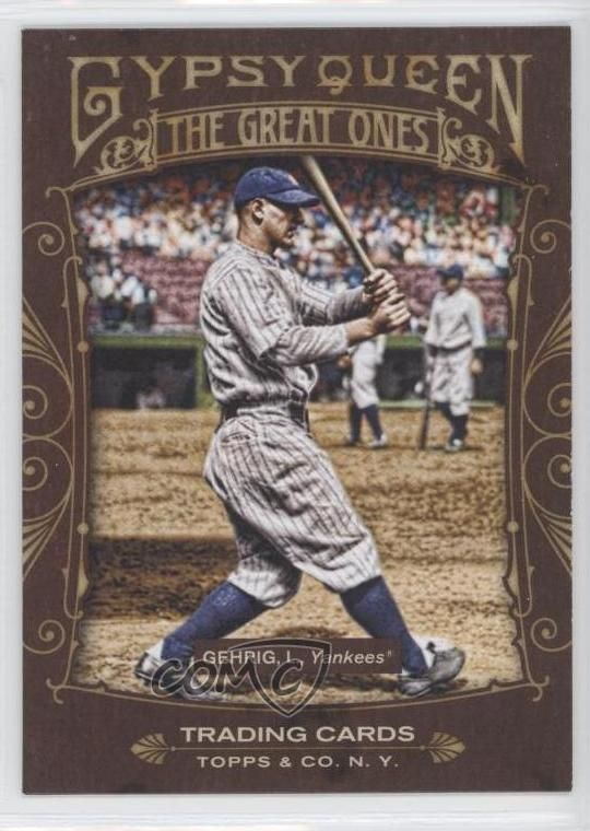 2011 Topps Gypsy Queen The Great Ones #GO13 Lou Gehrig New York Yankees Card #NewYorkYankees
