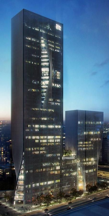 Shenzhen International Energy Mansion, Shenzhen, China by Bjarke Ingels Group (BIG) Architects :: 43 floors, height 222m