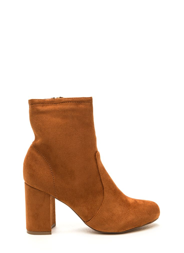 Stacked In Your Favor Chunky Booties MOCHA ($28.64)