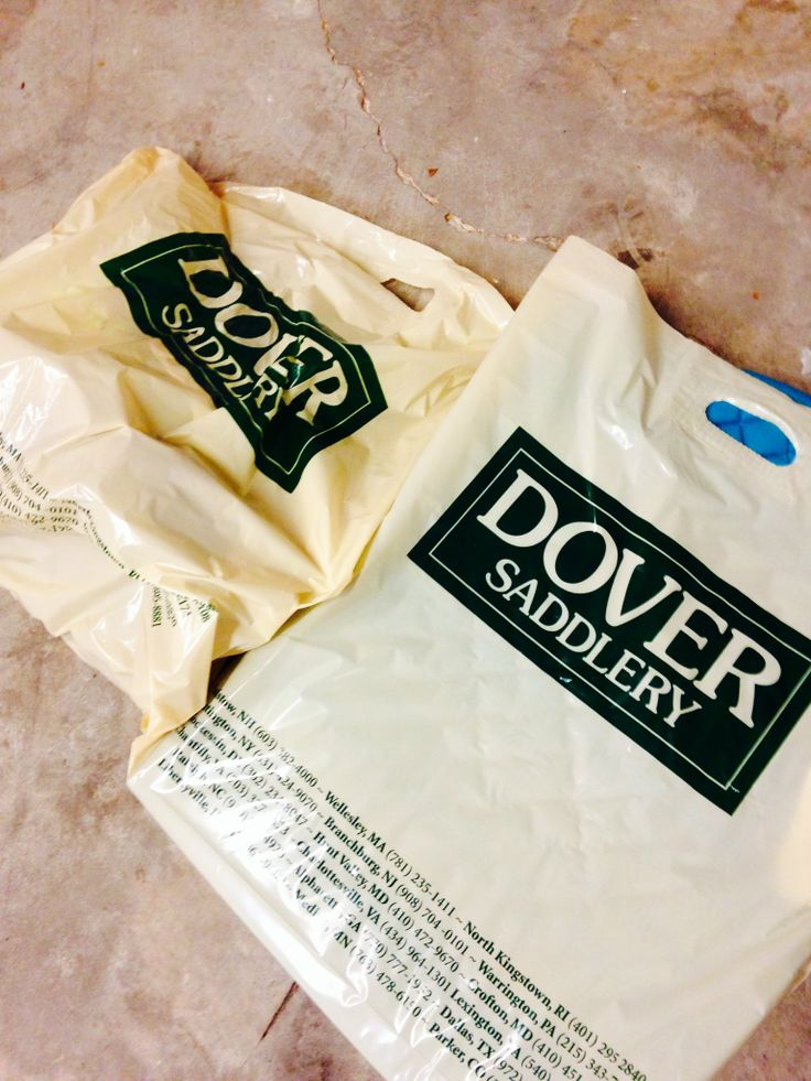 Shopping bags from Dover Saddlery, tack store, horse shopping www.DrTrogstadEquine.com