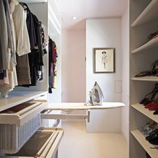slide out ironing board... contemporary closet by Lisa Adams, LA Closet Design