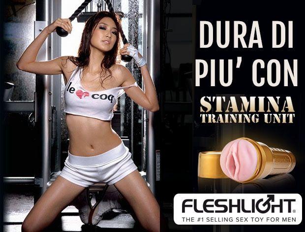 Fleshlight Stamina Training Unit, un eccellente metodo per aiutarti a durare di piu' a letto!