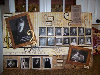 Board for grad party - start gathering pictures now