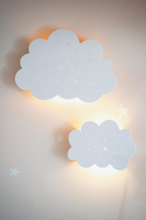 Kinderlampe Wandlampe Wandlampe Wolkenlampe Holzlampe Baby Lampe
