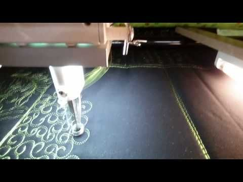 """#FMQ101 ( Video #18 - """"C"""" curl background filler) Longarm Free Motion Quilting Video - YouTube"""