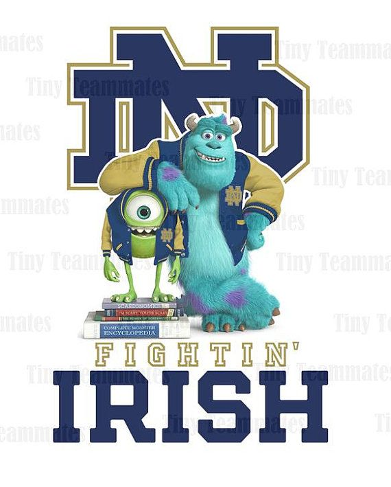Hey, I found this really awesome Etsy listing at http://www.etsy.com/listing/157839564/monsters-university-inspired-notre-dame