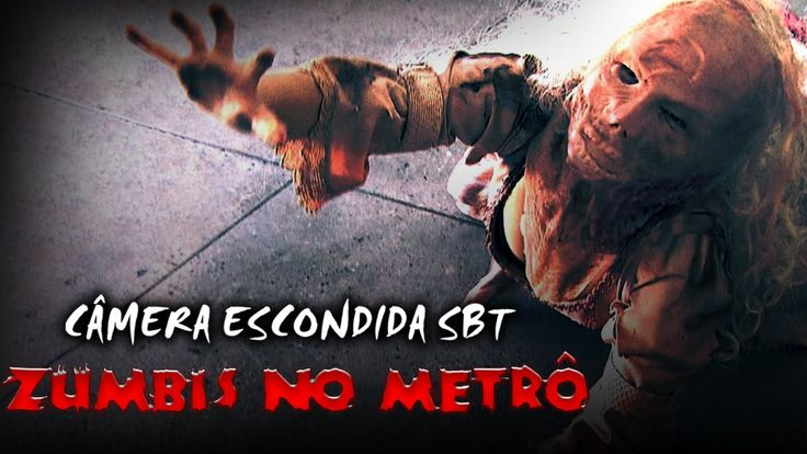 Zumbis No Metrô - Câmera Escondida SBT [Subway Zombie Prank]...On TV Brasil.