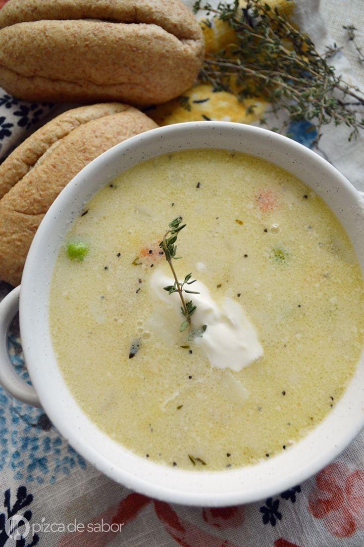 Sopa de pavo y papa cremosa (recalentado reinventado) www.pizcadesabor.com