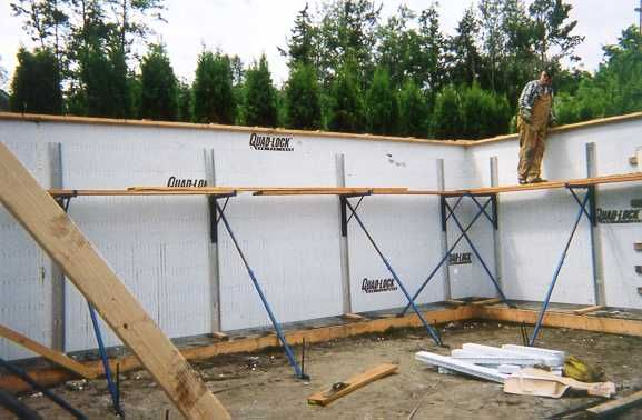 10 images about icf walls on pinterest building for Icf basement construction