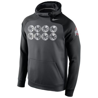 Ohio State Buckeyes Nike Championship Drive Hyperspeed Therma-FIT Performance Hoodie - Anthracite
