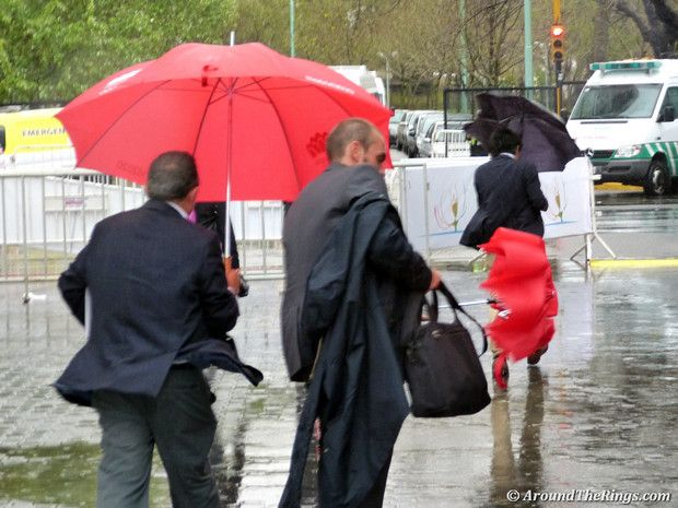 Torrential downpours made life uncomfortable Saturday. (ATR)