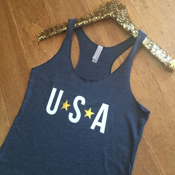 Usa Tank Top Fourth of July Tank Top American Tank Top Fourth of July... ($22) ❤ liked on Polyvore featuring tops, grey, tanks, women's clothing, grey shirt, americana shirts, grey tank top, summer tank tops and fitted tank tops