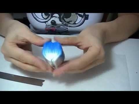 Millefiori canes: Fiore Blu (polymer clay tutorial) - YouTube
