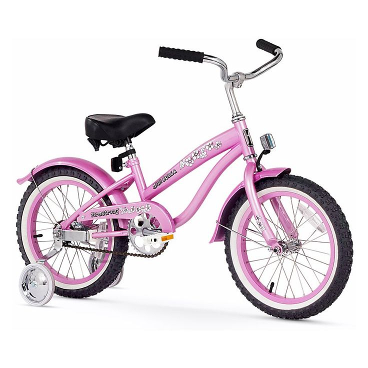 Firmstrong Bella Girls 16 in. Single Speed Bicycle with Training Wheels Pink - 15137