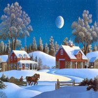 Farm Winter Christmas Wide Hd Wallpaper For Desktop Background Download Pictures