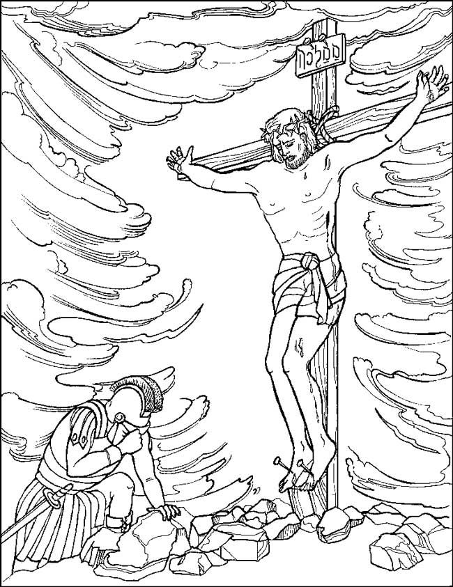 crucifixion and resurrection of jesus christ coloring pages - Coloring Pages Jesus Cross