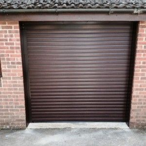 Amazing Rosewood Roller Garage Door, Insulated And Automatic