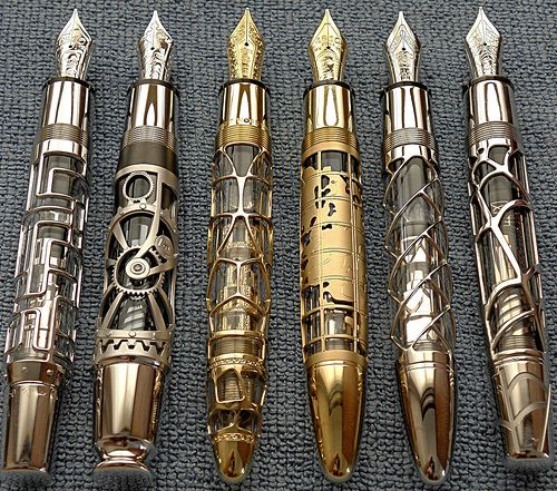 ~ Gorgeous Steampunk Pens ~