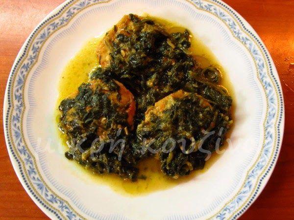 μικρή κουζίνα: Βακαλάος με σπανάκι