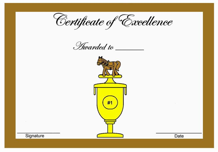 Horse Themed Award Certificates | Themed Award ...
