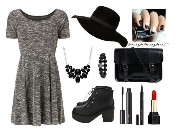 """A Day In The City - Dark"" by maybe0rmaybenot ❤ liked on Polyvore featuring ASOS, Guerlain, Witchery and Style & Co."
