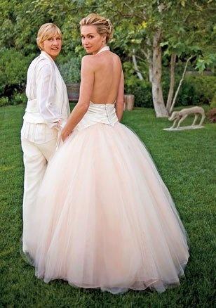 Ellen DeGeneres and Portia De Rossi I loved their wedding.