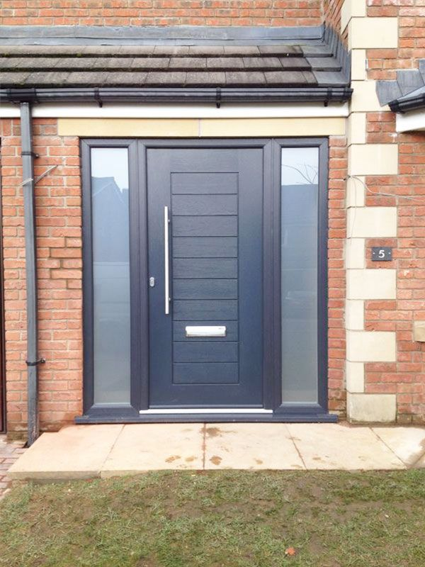 Modern & secure composite doors in a range of stylish designs. Our doors are 10% thicker and more energy efficient than other composite front or back doors!