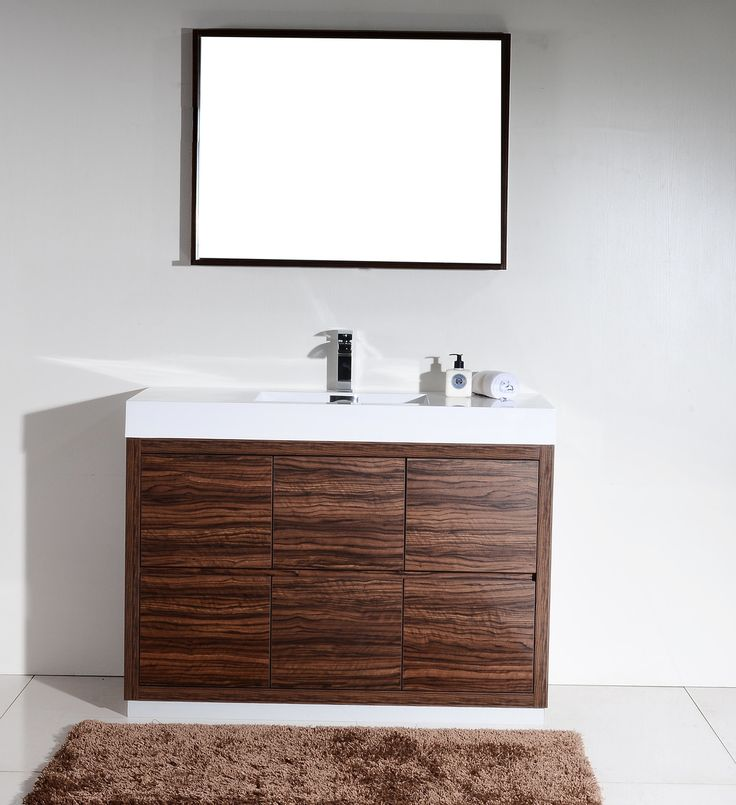 The Bliss is one of the most elegant modern Bathroom Vanities around.  This 48 Inch model comes with a reinforced Acrylic composite sink, Marine Veneer Construc