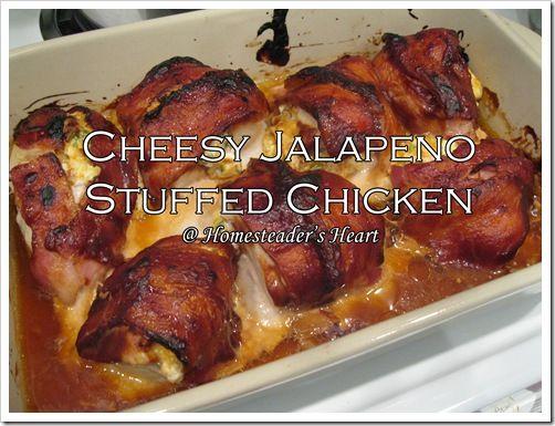 Cheesy Jalapeno Stuffed Chicken Breasts. #Chicken #Cheese #Stuffed #Dinner #Jalapeno