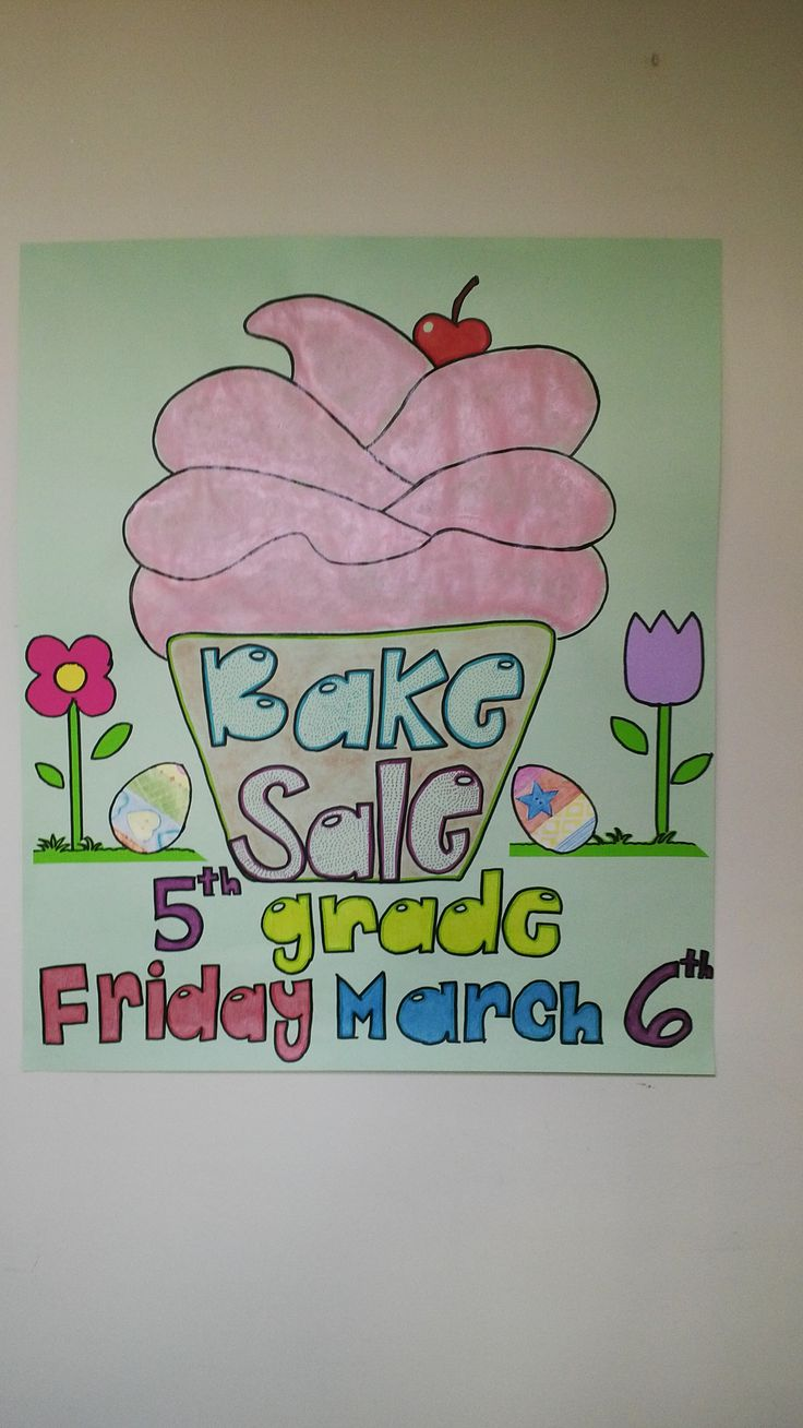 best images about p oacute ster ideas for fundraising bake poster